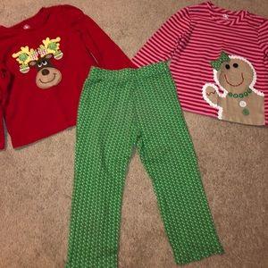 Girls J. Khaki set- 2 shirts and a pair of pants